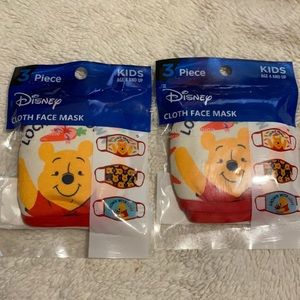 6 Winnie The Pooh Disney Face Masks ages 4 and up